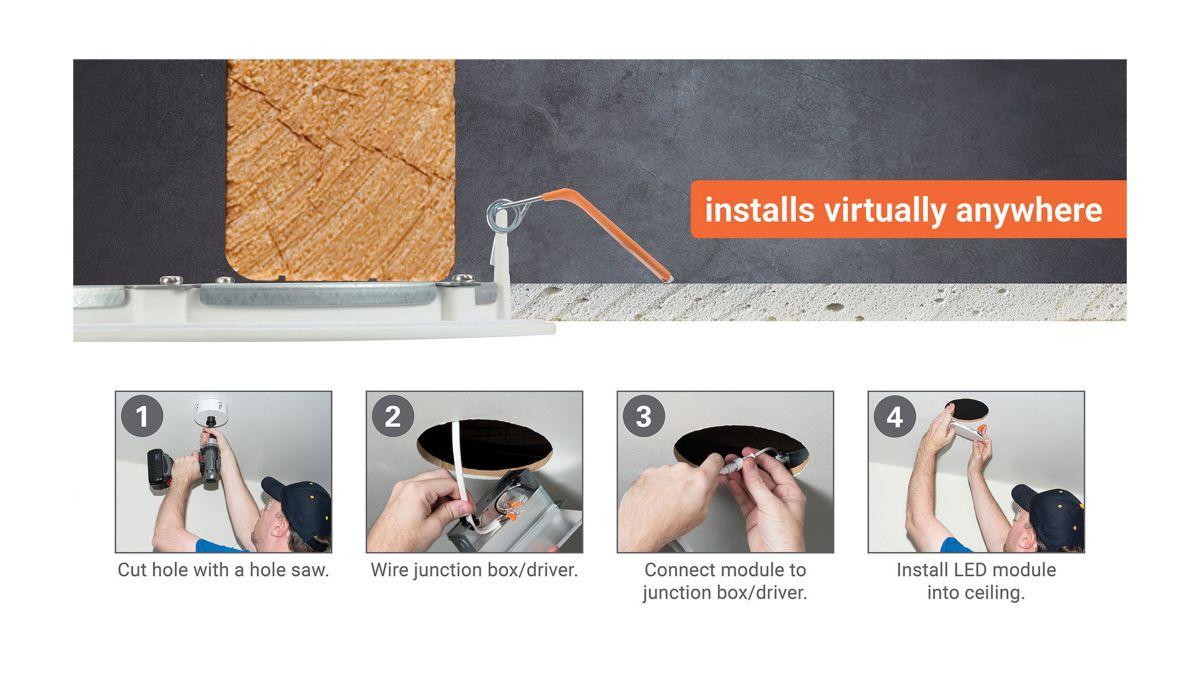 Installs virtually anywhere
