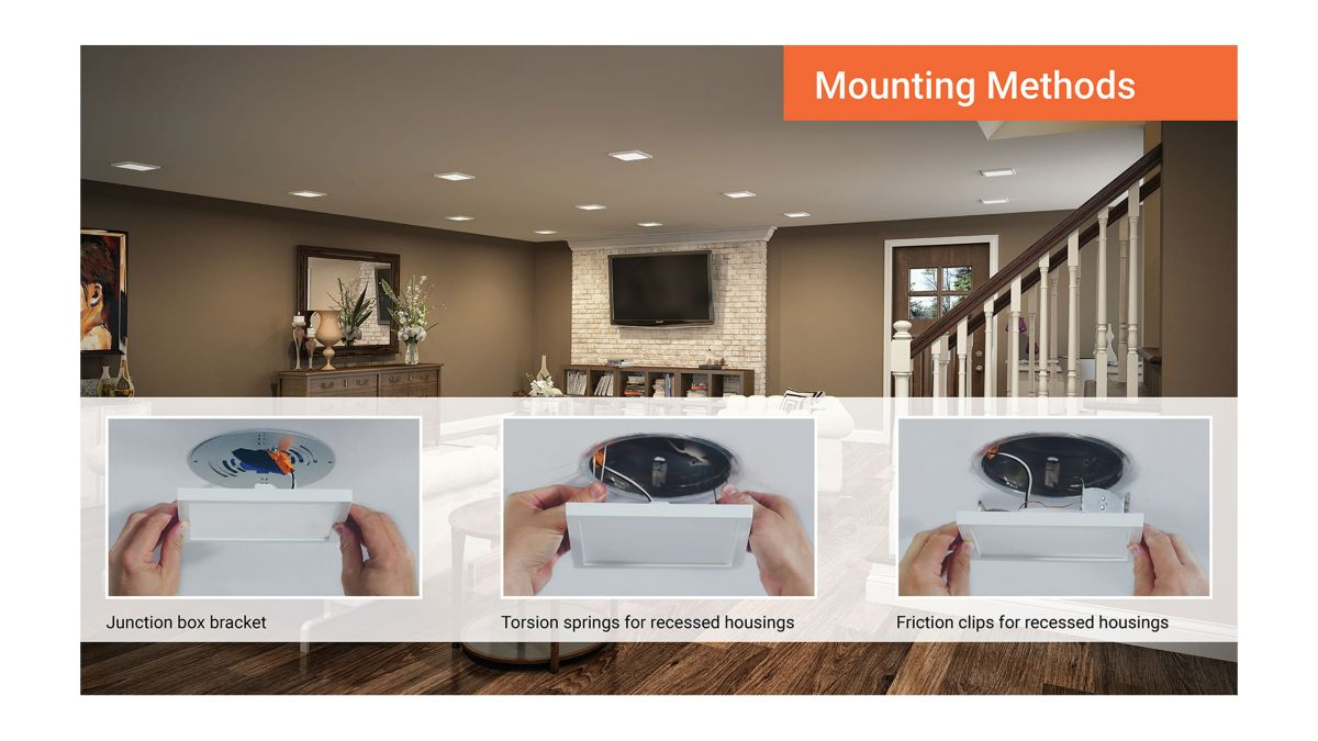 Simple and quick mounting methods