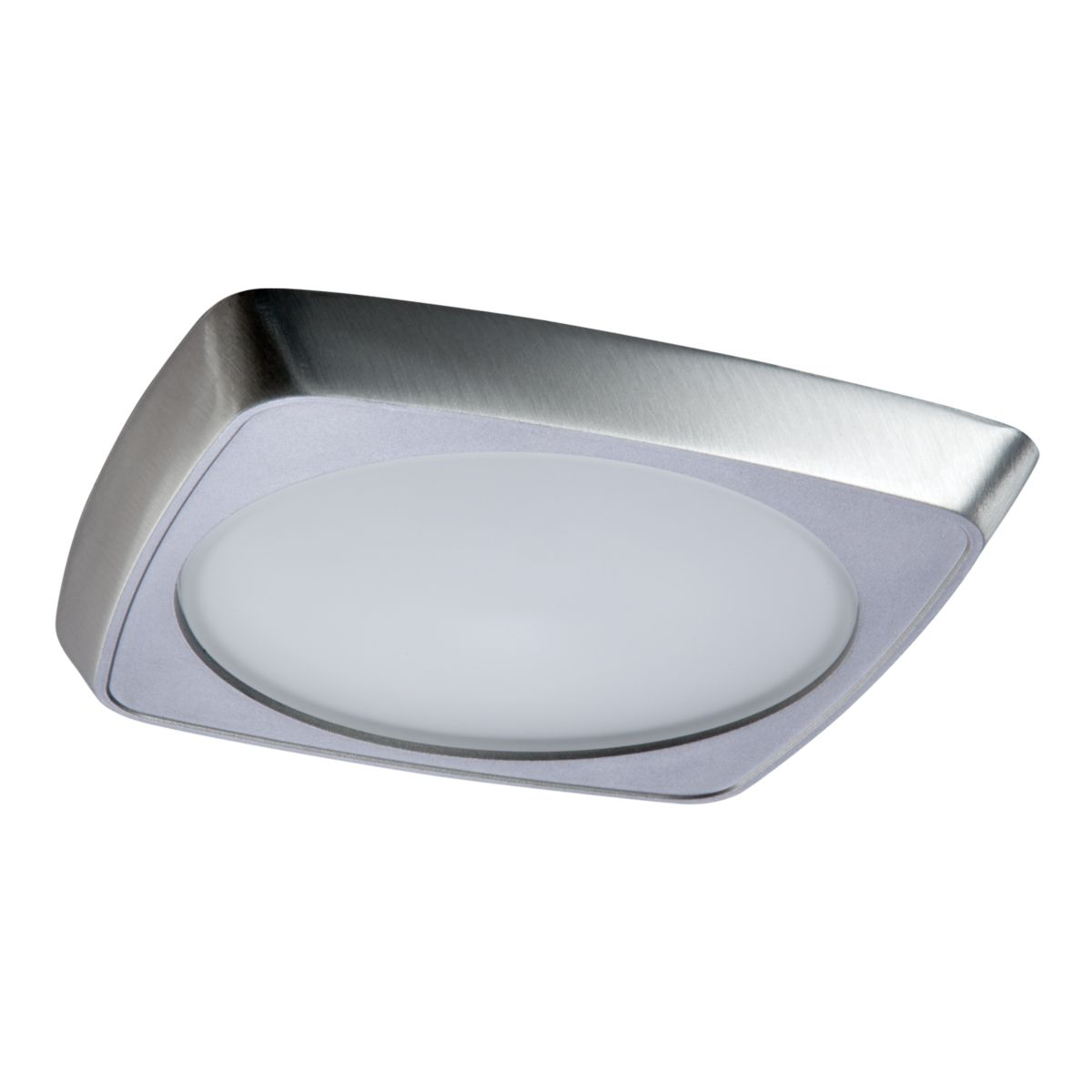 5230 Squircle Frost Glass Lens, Metal Trim